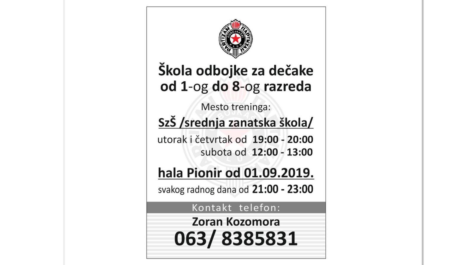 flajerSkolaOdbojkeRakovica